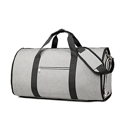 [スーツケースカンパニー]4WAY GPTガーメントバッグ 靴も入る ボストンバッグ ショルダー 手提げ 肩掛け スーツ キャリーオンバッグ 大容量 グレー