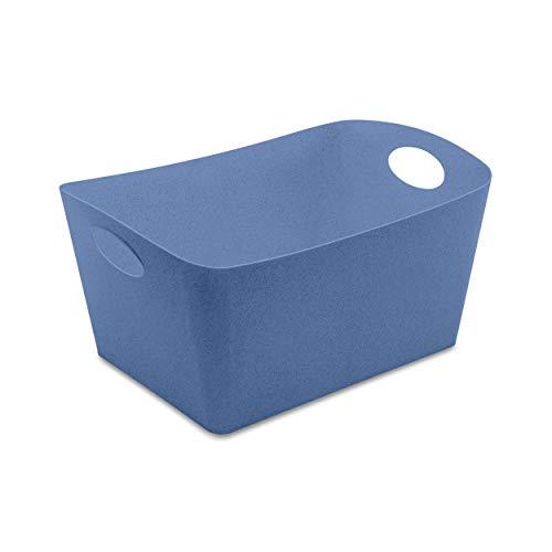 Koziol 5743671 Boxxx L Boîte de Rangement en Plastique thermoplastique Bleu 15 l
