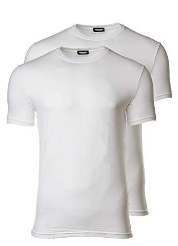 DSQUARED2 2er Pack Herren T-Shirt, Rundhals, Halbarm, Cotton Stretch Twin Pack: Farbe: Weiß   Größe: XL (Gr. X-Large)