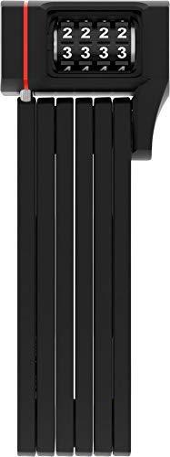 ABUS Faltschloss Bordo uGrip 5700/80C mit Halterung - Fahrradschloss mit 5 mm starken Stäben - ABUS-Sicherheitslevel 7 - 80 cm - Schwarz