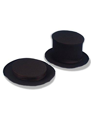 Forum Novelties Magician's Collapsible Black Top Hat, Black, X-Large