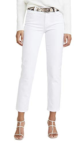 J Brand Women's Adele Mid Rise Straight Jeans, Blanc, White, 27