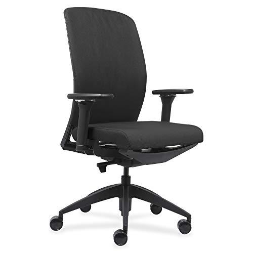Lorell USA Seating Adorn Chair, 47' x 26.5' x 25', Black