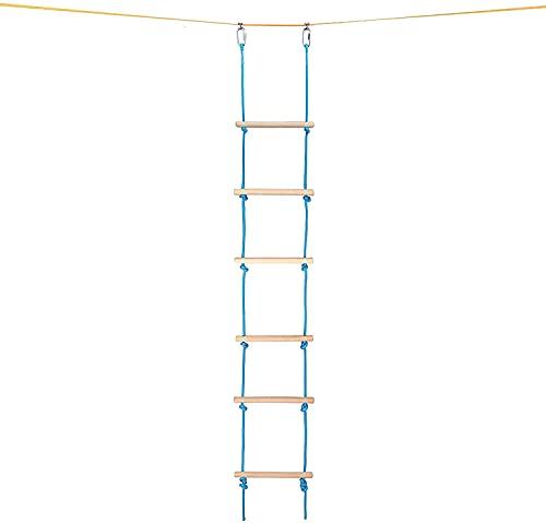 wsbdking Ninja Guerrero Obstáculo Cuerda Escalera para niños, Accesorios de escalera de cuerda de escalada, Jungle Gym Monkey Line Equipamiento de entrenamiento, Ladder para patio trasero, Viaje de ca