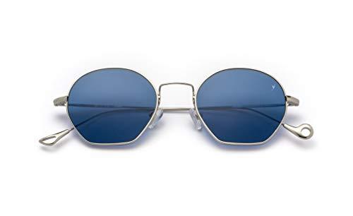 Eyepetizer Occhiali da sole Unisex modello Triomphe colore asta argento e lente blu con naselli