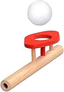SANGAITIANFU 1 Pcs Educational Puzzle Wooden Toys Suspension Ball Blowing Magic Floating Ball Children's Funny Games Toy
