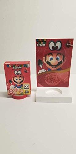Super Mario Cereal Custom Amiibo and Stand