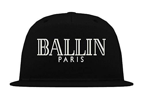 TRVPPY Casquette Chapeau Unisex Snapback Cap Modèle BALLIN - Noir