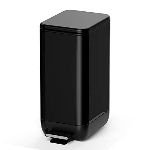 bote de basura cocina Manos libres Cocina Paso de basura pedal puede Hogares de acero inoxidable cubo de basura grandes y simples de basura pedal capacidad de la papelera, 2.3 galones / 3.1 galones bo