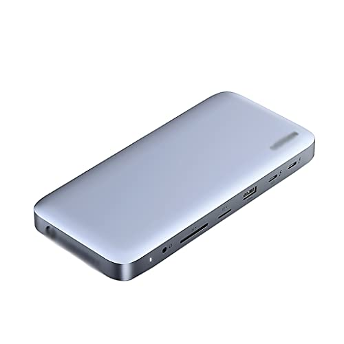 WCN Hub USB C HUB 10-IN-1 con DP 1.4, DC Puerto eléctrico, 2 USB 3.1, USB C 3.1, USB 3.0, Ethernet, Puerto de...