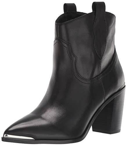 Steve Madden Women's ZORA Fashion Boot, Black Leather, 9 M US
