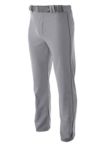 A4 N6162 Pro-Style Open Bottom Baseball Pant, Gray, 3X-Large