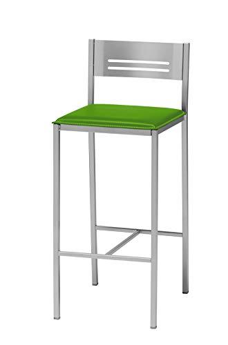 ASTIMESA Dos Taburetes Alto de Cocina 60 cms Polipiel Verde
