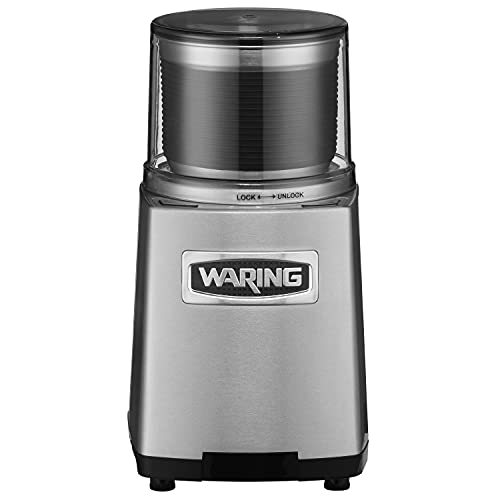 Waring Commercial WSG60 3 Cup Spice Grinder, 1 HP Motor, 20,000 RPM's, Pulse Actuation, Includes 2...