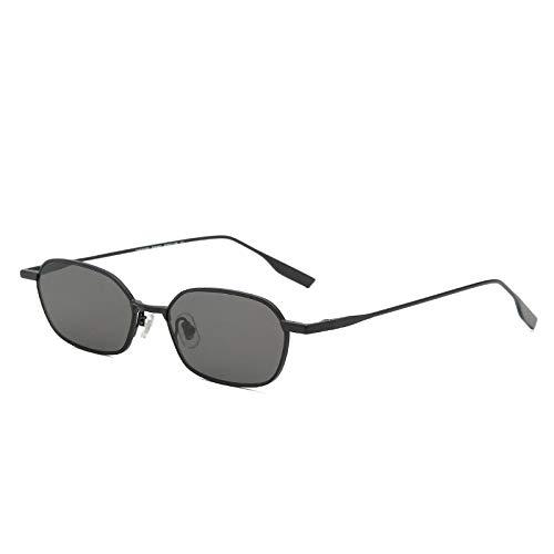 chachacha Kleine Box Persönlichkeit Bunte Damen Sonnenbrille Damen SonnenblendeC1 Black Box Schwarz Grau