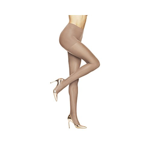 Hanes Silk Reflections Women's Absolutely Ultra Contol Top Pantyhose Sheer Toe 707, Barely There, B