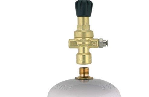 Reductor de presión de CO2 / ARGON / MIX Soldadura Oxyturbo Bombonas desechables y casquillo M10 x 1RH