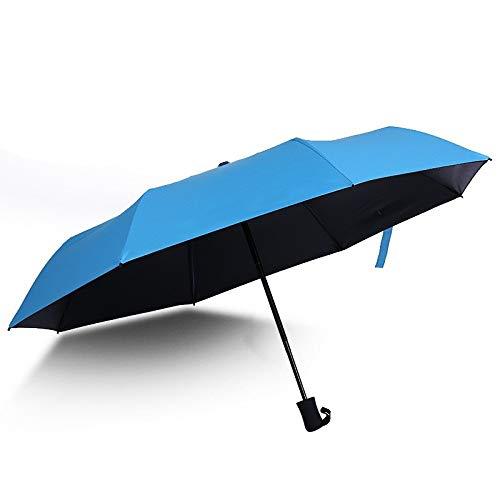 CZZJH Regenschirm Vinyl Sun Umbrella Student Kleiner, Frischer Taschenschirm Vollautomatischer Federregenschirm