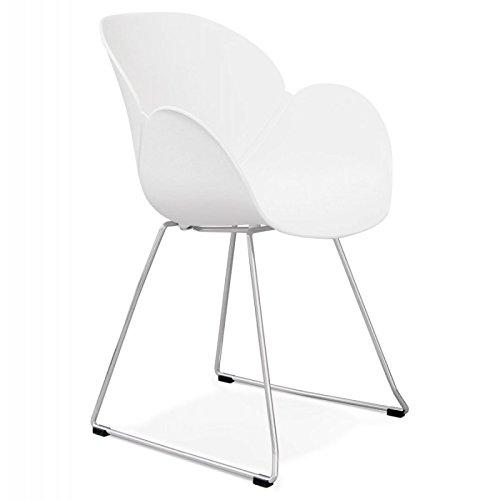 Paris Prix - Fauteuil Design zia 87cm Blanc