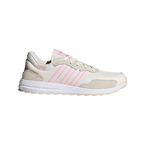 adidas Women's RETRORUN Running Shoes, Ftwbla Roscla Irides, 7 UK