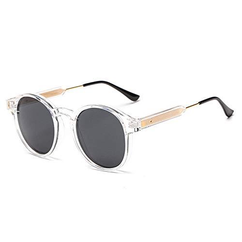 Gafas De Sol Hombre Mujeres Ciclismo Gafas De Sol Redondas para Hombre, Mujer, Unisex, Gafas Vintage para Hombre, Gafas De Sol para Conducir, para Mujer, Tonos Transparentes
