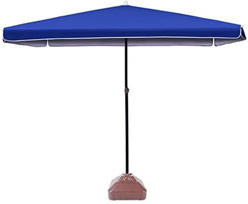 1yess Folding Sonnenschirm Sonnenschirm, Möbel aus Stahl pulverbeschichtet, Kurbel errichtet Stabile Stabile Sicherheit Langlebige, for Outing Camping Beach Family Garden 8bayfa