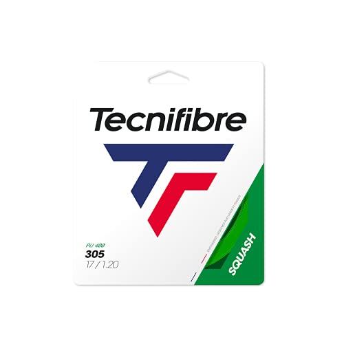 Tecnifibre Squashsaite TF 305 Squash Green, 1,20mm, 9,5 mtr Garnitur, 122370 Cuerdas, Unisex Adulto, Verde, 9.5 ✅