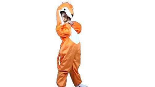 Matissa - Pijama para niños y niñas, disfraz de animal, para cosplay (zorro, XL (para niños de 120 a 140 cm de altura), 3 años y más