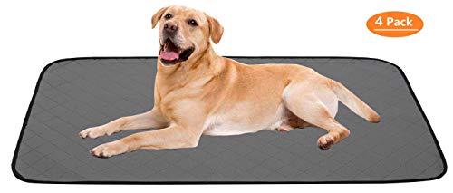 Geyecete Trainingsunterlage aus Polyester, sehr saugfähig, wiederverwendbar, waschbar, mit wasserdichter Unterseite, Hundematte, Welpentraining-Pads – passend für Standardkäfig