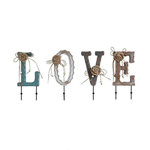 Porte manteau Accessoires for la Maison patère Suspendu patère Crochet décoratif en Bois (Color : Brown, Size : 11 * 3 * 26cm)