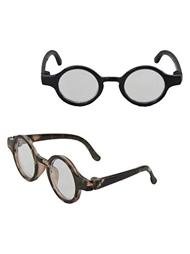 Tortoise Shell Circle Glasses for 18/'/' Dolls by American Fashion World