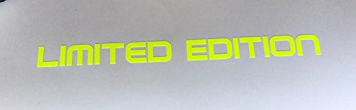 Schönheits Shop Limited Edition Neon GELB Aufkleber Tuning School Roller Motorrad Decal Turbo