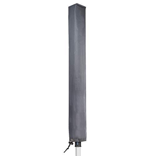 PJDH Funda giratoria para tendedero con cremallera, resistente al viento, color gris