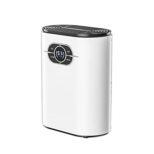 Deumidificatori ultra silenziosi con modalità Sleep, deumidificatore a risparmio energetico con pannello di controllo digitale, 400-500 ml al giorno, asciugatura del bucato e timer 24 ore, bianco