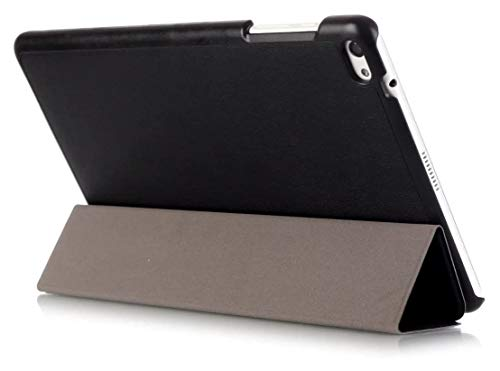 Kepuch Custer Funda para Huawei MediaPad T2 10.0 Pro,Slim Smart Cover Fundas Carcasa Case Protectora de PU-Cuero para Huawei MediaPad T2 10.0 Pro - Negro