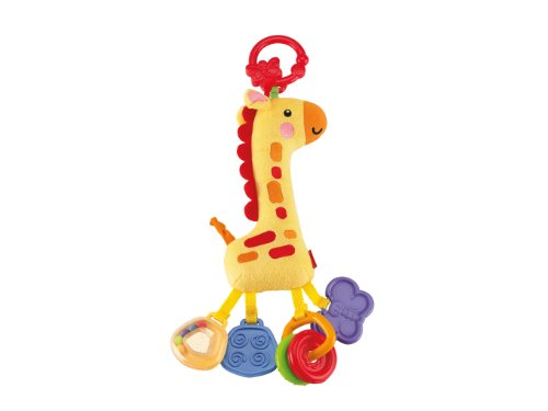 Fisher-Price - Girafe Hochets Amis de la Jungle Jaune Fisher-Price 0m+ - CCG06 - CBK71 - Jaune