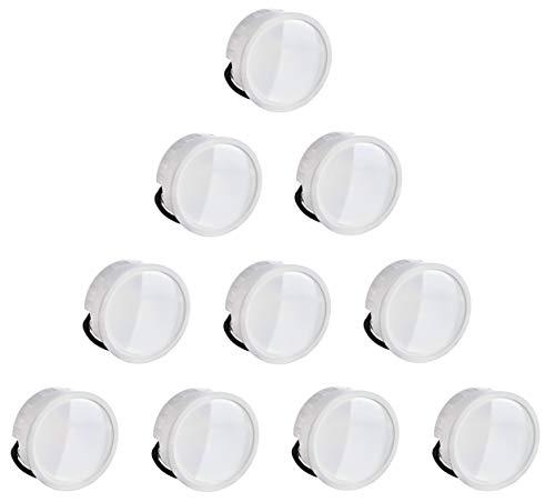 10er PACK - Slim LED Keramik Modul 230V -5W 420lm 120° - Einbautiefe 23mm - Ersatz für MR16 GU10 - für geringe Deckenhöhen - kaltweiß (6000 K)