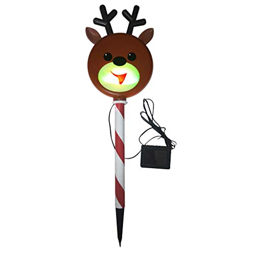 PETSOLA Christmas Color Changing LED Solar Light Yard Flowerbed Decoration Decor - Reindeer