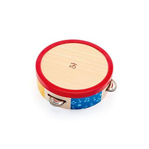Hape E0607 - Bunter Tamburin, Musikinstrument