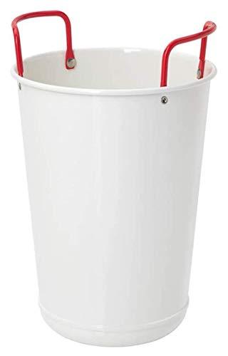 SQHY Cubo de Vino Aislado con Mango, Cubo de Hielo de Acero Inoxidable Premium, Tapa de Bebida de Hielo portátil Champagne Champagne Wine Chiller refrigerador para Barra de Fiesta: un Blanco 1231