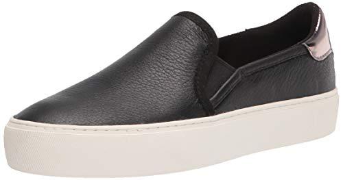 UGG Women's CAHLVAN Sneaker, Black Leather, 7.5