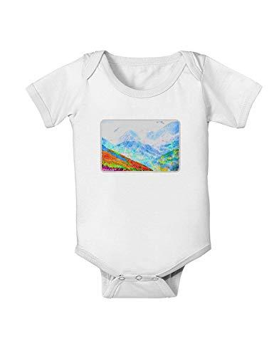 qidushop CO Fog Mountains Grenouillère pour Nouveau-né garçon et Fille - Blanc - XX-Small