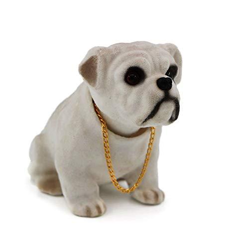 siyaful Bobbing Head Dog-Bobble Head Auto Car Dashboard Decors Toy Bulldog English