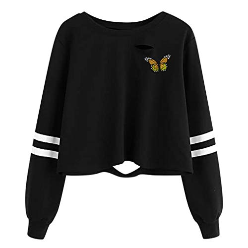 Buyao Womens Teen Girls Cropped Hoodies Zip Up Pullover Long Sleeve Crop Tops Lace Up Sleeve Hoodie Sweatshirts Blouses