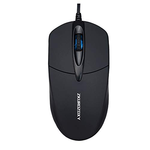 ZKUROZOXY M3 Wired USB Mouse, 3-Buttons, Add Weight Design, for PC / Mac / Laptop