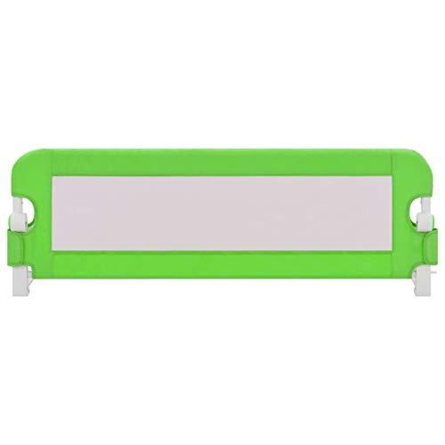 Zerone - Riel de cama para bebé para levantar verticalmente, cama doméstica, carril de cama de seguridad, color verde, 120 x 42 cm, poliéster