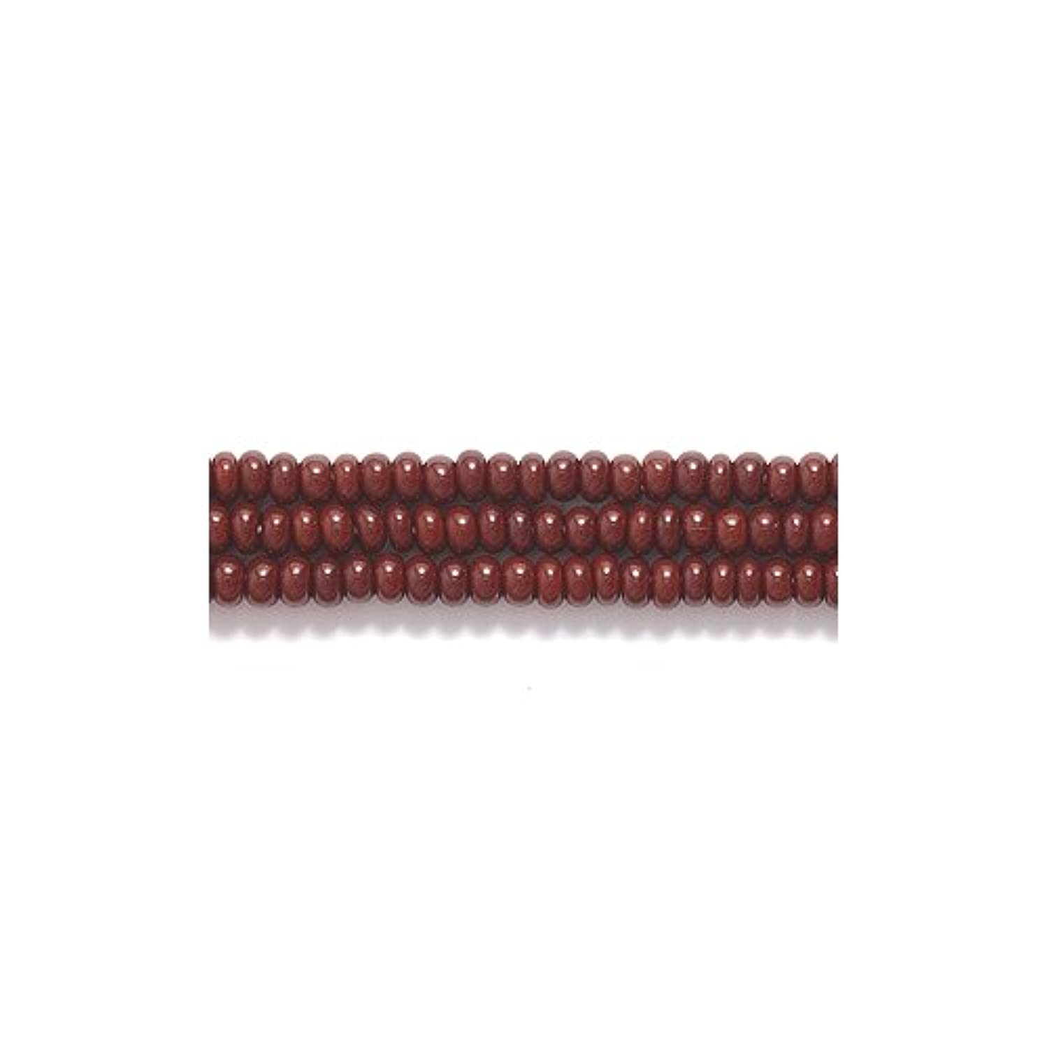 Preciosa Ornela Czech Seed Bead, Opaque Chocolate Brown, Size 11/0