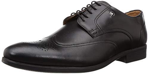 Louis Philippe Men Black Leather Formal Shoes-6...