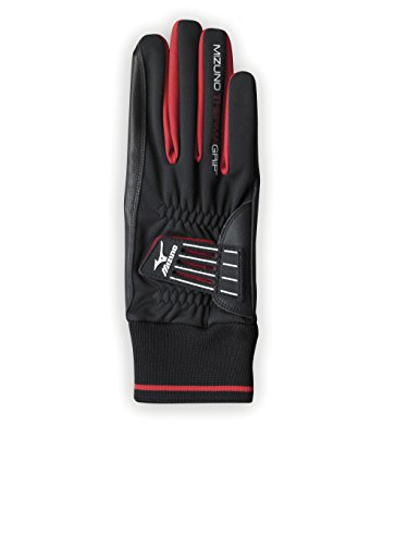 Mizuno Men's Therma Grip Gloves-Black/White, Small