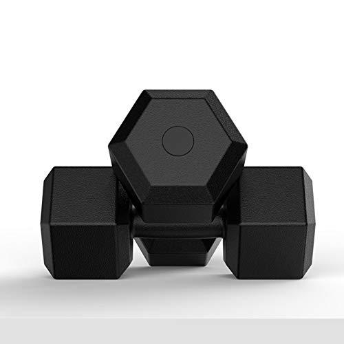 FFLLAS Hexagon Senior Hantel (Paar) | 2,5/5 / 7,5/10 | rutschfeste Beschichtung |, Hexagon-Gegengewicht, Mit Gummibeschichtung, Ergonomischem Griff, Cross-Training Und Funktionstraining,2.5KG